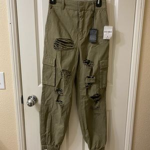 high waisted jogger cargo pants